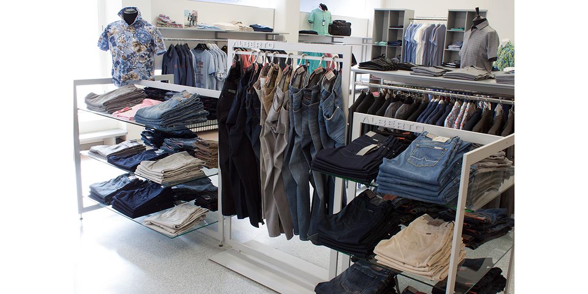 alberto jeans för herrar i borås stretchiga